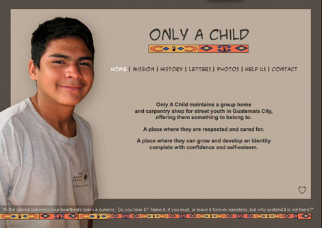 Only a child website, screen grab of home page. Click here to go to their site!